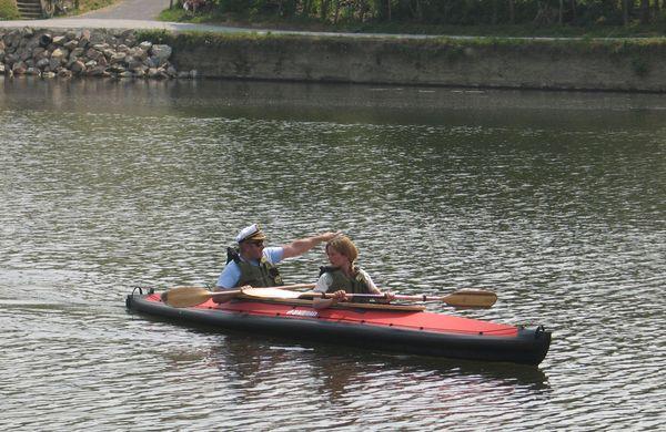 A la découverte de la rivière Mayenne pour nos amis reporters hollandais