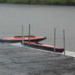 Une bonne aversesur les kayaks pliants