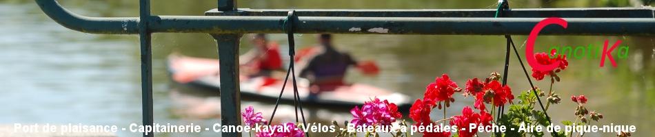 Ecluse fleurie de Pendu à découvrir en kayak de randonnée