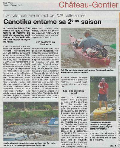 article de presse Haut Anjou
