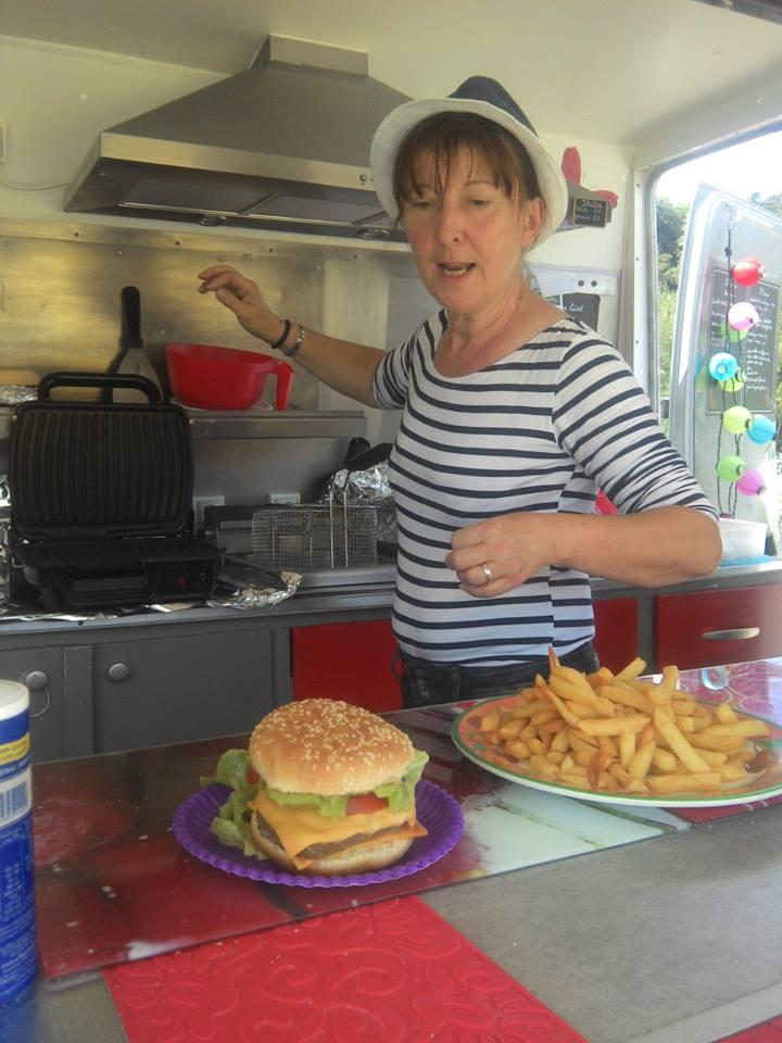 Hamburger et frites de Brigitte