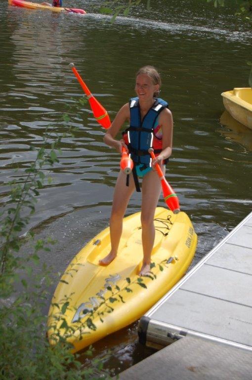 jongler sur un stand up paddle avec Wendy