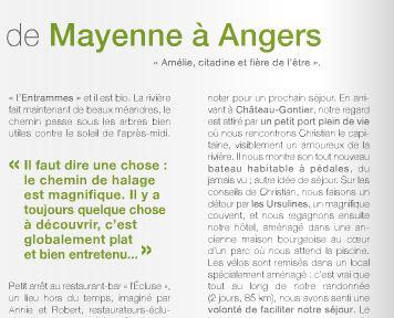 Extrait du Magazine Mayenne Tourisme 2015