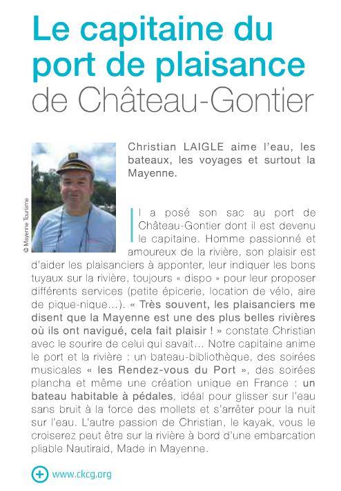 article de Mayenne tourisme le capitaine