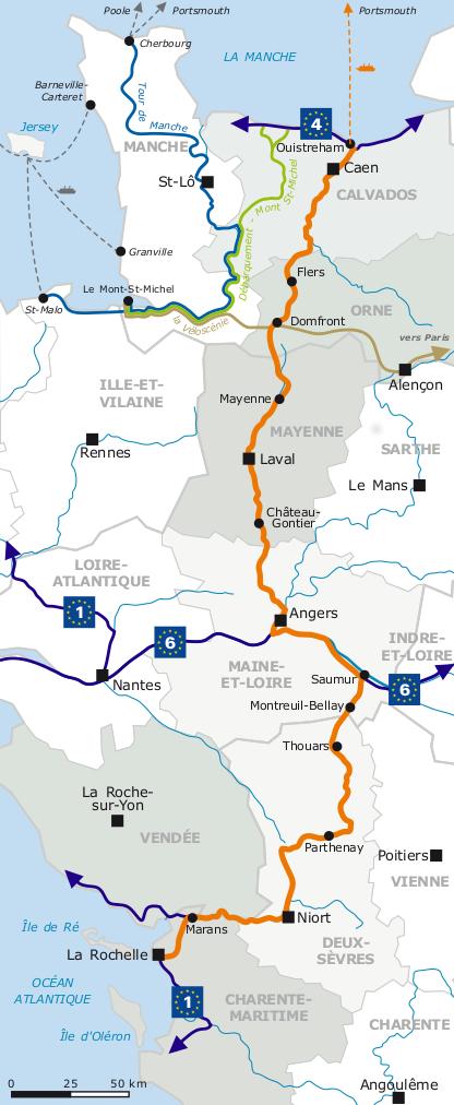 itineraire Vélo Francette étape Canotika