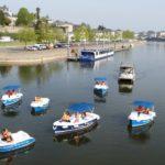 Le spetits bateaux électriques ruban bleu de Canotika