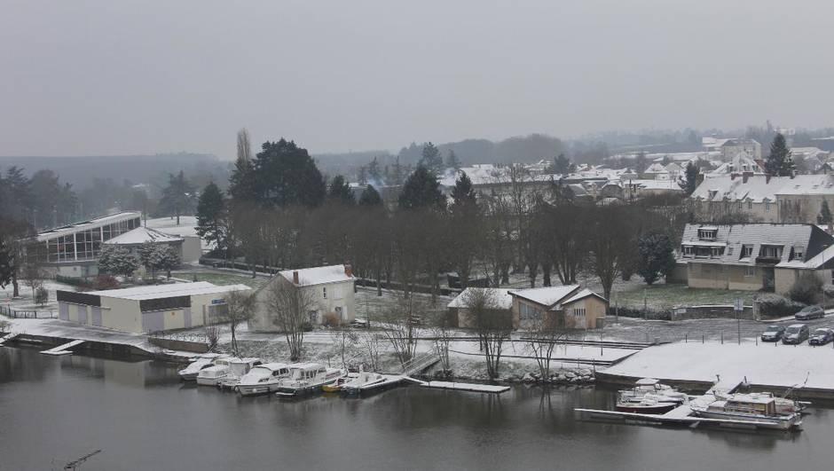 le port d eplaisance Canotika sous la neige photo Ouest-France