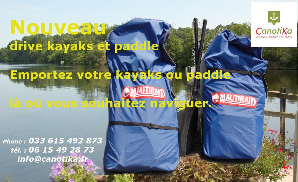 drive kayaks et paddle